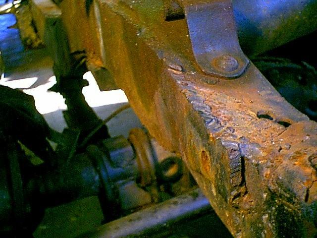 Repairing A Rusted Broken Frame